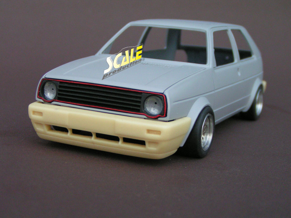 ScaleProduction Volkswagen Golf Mk2 bumpers for Revell kits