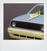 ScaleProduction Volkswagen Golf Mk2 GL bumpers for Revell kits