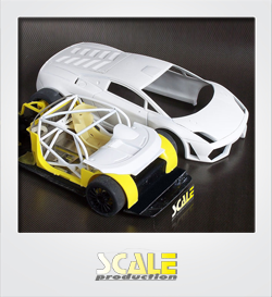 ScaleProduction Gallardo LP600+ GT3 transkit for Fujimi Gallardo