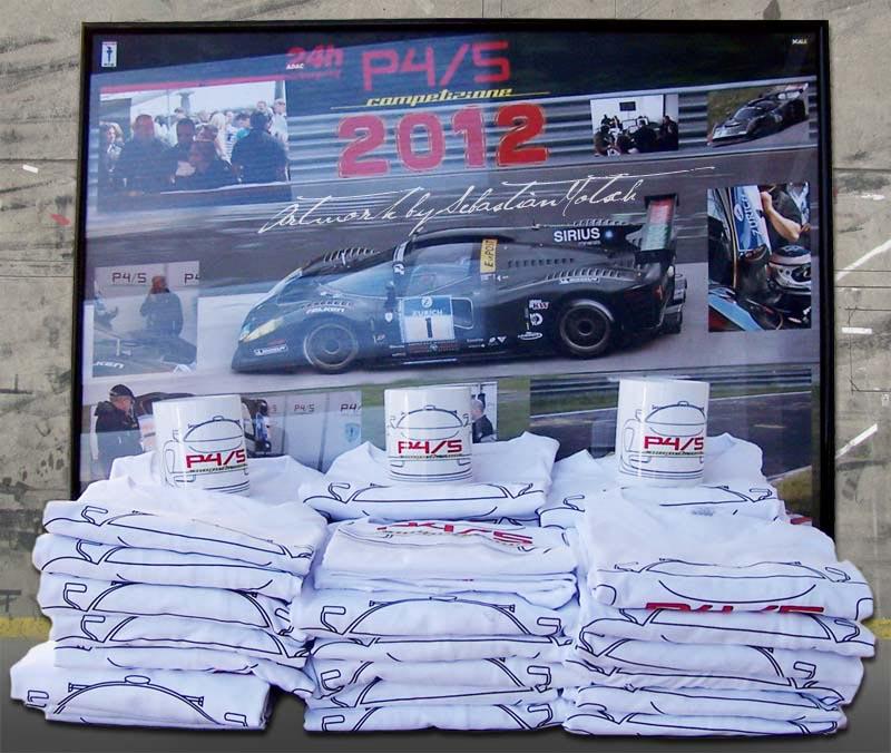 Scuderia Glickenhaus P4/5 Competizione T-Shirts 2012 Artwork by Sebastian Motsch