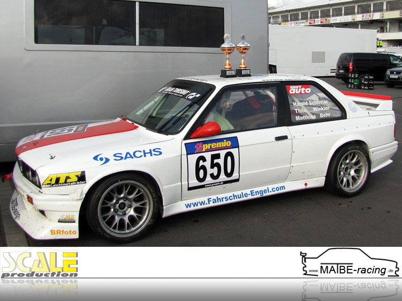 ScaleProduction sponsored team MATBE-racing wins 1st place in VLN race 2012