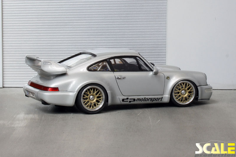 "Porsche 964 with golden 18"" BBS wheels ScaleProduction"