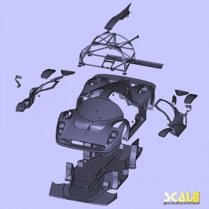 ScaleProduction P4/5 Competizione exploded view of parts | c ScaleProduction (2012)